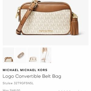 Michael Kors convertible crossbody new with tags